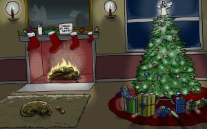 Christmas Scene by LineDetail