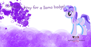 Llama Badge Adoptable (Or 1 point) - Closed by monkeylegs