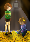 Chara And Frisk by UYTP