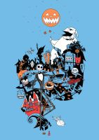NIGHTMARE BEFORE CHRISTMAS T-SHIRT DESIGN COLOURS by future-parker