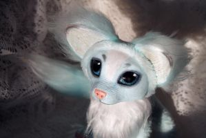 Ice fox. Posable Art doll. by RedFoxAlice
