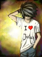 L loves justice by Ajgiel