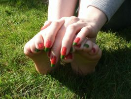 Watermelon Fingers and Toes by OkBear