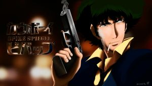 Spike Spiegel paint by fednan