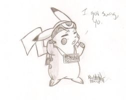 Swagalious pikachu by HowSplendid