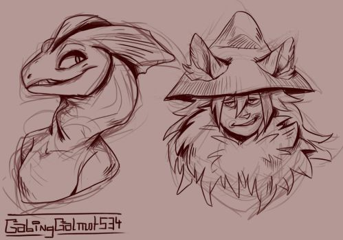 Sketch Bust Commissions 16-05-17 by GabingGalmot534