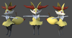 Braixen 3d Model by B2Squared