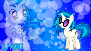 Vinyl Scratch - DJ-P0N3 Style Wallpaper by BlueDragonHans