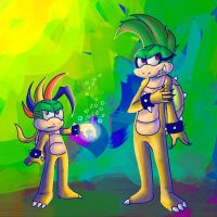 Reverse  Koopaling: Lemmy and Iggy by lucario-sensei