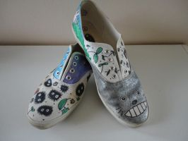 totoro shoes - a pair by missMaxx