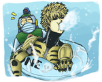 Megaman x One Punch Man - Bubbleman's not lonely by Hikapi