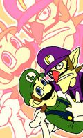 Luigi and Waluigi by tekoyo