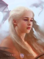 Daenerys - the mother of dragons by antoniodeluca
