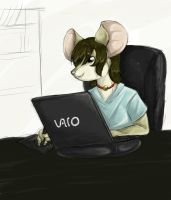 New tablet doodle by mouseymachinations