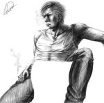 Grimmjow and the invisible chair by Katakanion