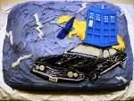 A SuperWhoMerLock Birthday Cake by Dair-to-be-me