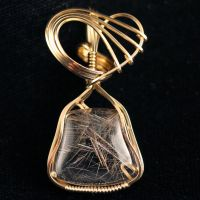 Rutilated Quartz Pendant by innerdiameter