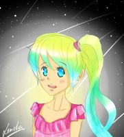 Little starry girl by Lenaha-ha