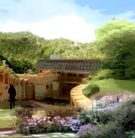 20120706 House Site Model Front Facade by ChimeraPathogen