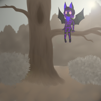 [Dig] A bat on a dead tree by hylidia