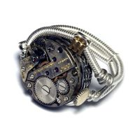 Steampunk Jewelry Watch movement Ring by CatherinetteRings