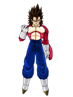 Vegetto SSJ4 V2 by SpongeBoss