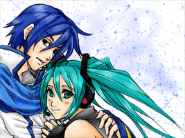 Vocaloid: MikuxKaito +COLOR+ by javanazV