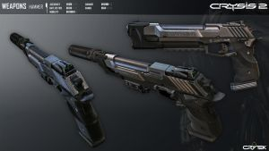 Crysis 2 Hammer Pistol by Scarlighter