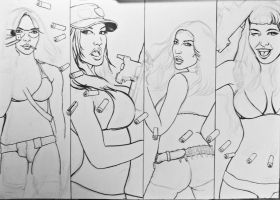 girls and guns wip 2 by FDupain