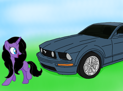 LavenderTune with a Ford Mustang by Sniperbat97