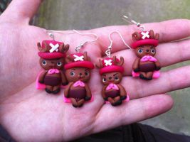 Handmade Earrings - Chopper One Piece by DarkettinaMarienne