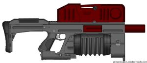 Grenade Auto Rifle for Mass effect cross over by HuntraG94