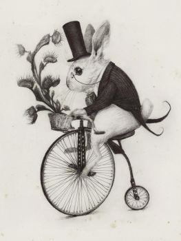 Delivery Rabbit by AudreyBenjaminsen