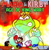Mario  Kirby Age of King Wart poster by scott910