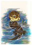 An Otter in the Water by five-pm