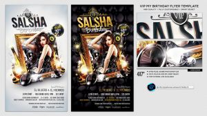 VIP My Birthday Flyer Template by ranvx54