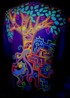 UV Body Art Tree 01 by Faeriegem