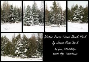 Winter Fence Scene Pack 2 by Jenna-RoseStock