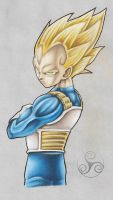 DBZ Leg Piece 1- Vegeta by Klyde-Chroma