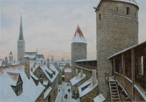 Tallinn City Wall by voitv
