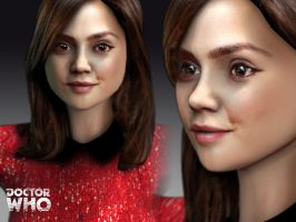 3d Doctor Who Clara by silentrepose
