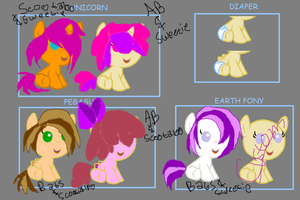 Cutie Mark Crusaders Shipping Adopts! by XRadioactive-FrizzX