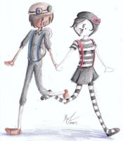 Bot and Mime by TheIrishAngel