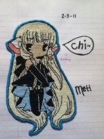 Cross-stitched:Chi from Chobit by metalxupxyourxass