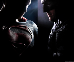 Batman v Superman : Dawn of Justice Poster No Logo by LamboMan7