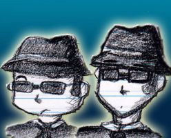 blues brothers bust doodles by DrGengar