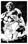 Adam Warlock VS Thanos with Captain Marvel by stevescott