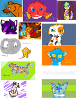 Old art collection by AutumLeavesofFall