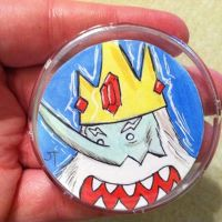 Ice King Original Art Button by johnnyism