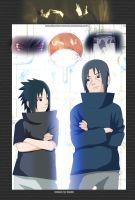 Itachi and Sasuke by Godaime-Tsunade